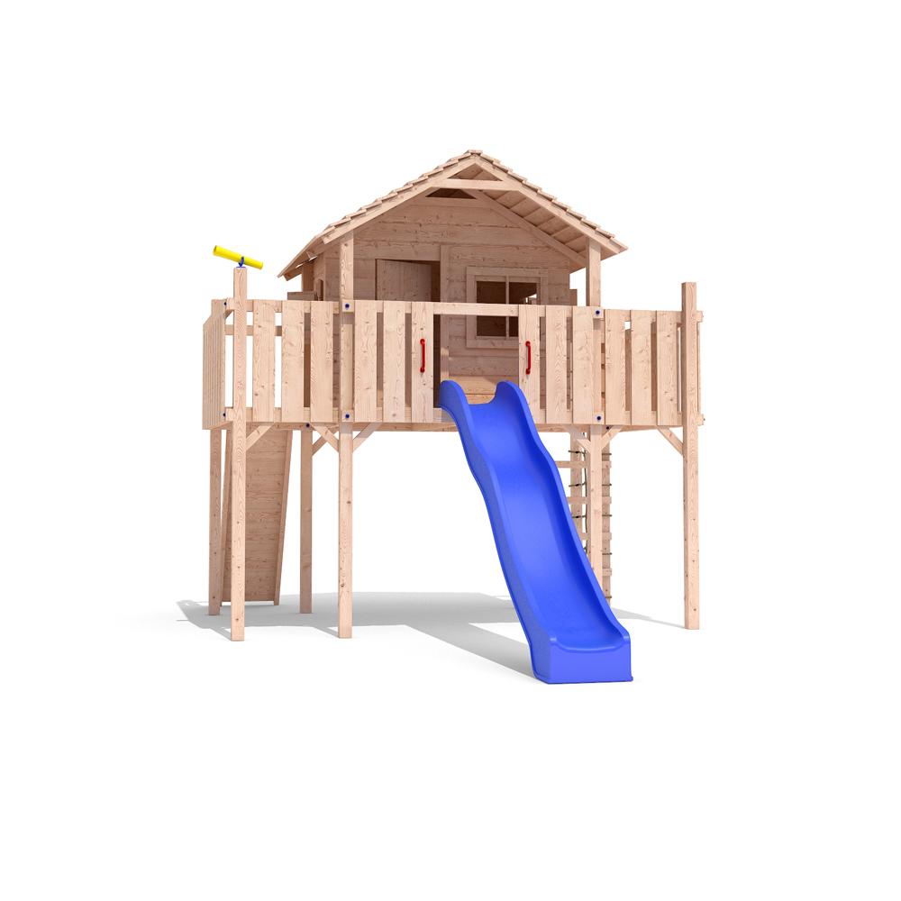 Spielhaus Holz Mit Rutsche Und Schaukel ~  Baumhaus Stelzenhaus Spielhaus Schaukel Kletterturm Rutsche Holz