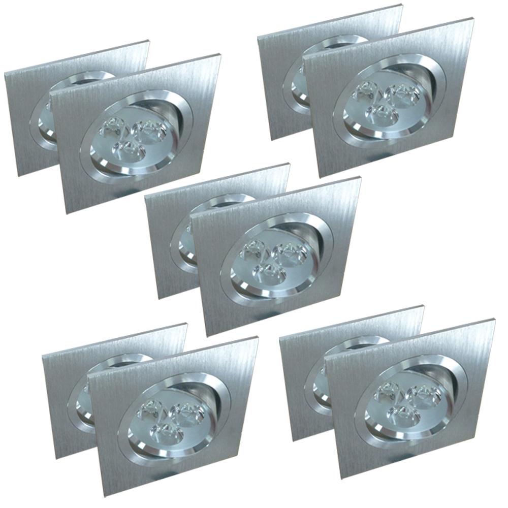LED Einbaustrahler Einbauspot Einbauleuchte Deckenstrahler 6W 9W Lampe 10er Set